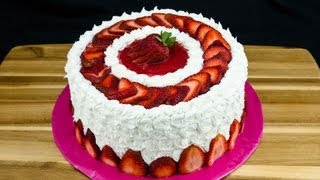 Strawberry Cake Recipe: How to Make Strawberry Cake by Cookies Cupcakes and Cardio - YouTube
