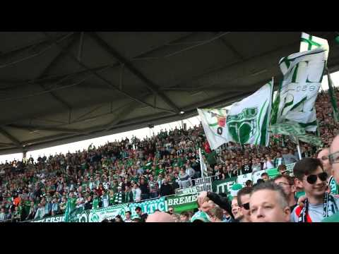 Hey SV Werder, lalalalalalalala // Gästeblock // Hannover - Werder 1:2 // 30.03.2014 (видео)
