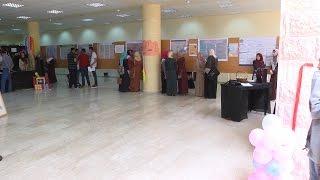 افتتاح معرض الرياضيات في جامعة فلسطين التقنية خضوري