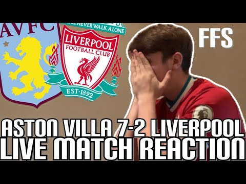 ASTON VILLA 7-2 LIVERPOOL | LIVE MATCH REACTION *angry LFC fan*