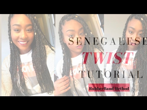 ✿Senegalese Twist Tutorial (Rubberband Method)✿