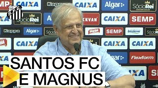 Confira como foi a coletiva de imprensa que tratou da parceria entre Santos FC e Magnus.Inscreva-se na Santos TV e fique por dentro de todas as novidades do Santos e de seus ídolos! http://bit.ly/146NHFUConheça o site oficial do Santos FC: www.santosfc.com.brCurta nossa página no facebook: http://on.fb.me/hmRWEqSiga-nos no Instagram: http://bit.ly/1Gm9RCSSiga-nos no twitter: http://bit.ly/YC1k82Siga-nos no Google+: http://bit.ly/WxnwF8Veja nossas fotos no flickr: http://bit.ly/cnD21USobre a Santos TV: A Santos TV é o canal oficial do Santos Futebol Clube. Esteja com os seus ídolos em todos os momentos. Aqui você pode assistir aos bastidores das partidas, aos gols, transmissões ao vivo, dribles, aprender sobre o funcionamento do clube, assistir a vídeos exclusivos, relembrar momentos históricos da história com Pelé, Pepe, e grandes nomes que só o Santos poderia ter.Inscreva-se agora e não perca mais nenhum vídeo! www.youtube.com/santostvoficial-------------------------------------------------------------** Subscribe now and stay connected to Santos FC and your idols everyday!http://bit.ly/146NHFUVisit Santos FC official website: www.santosfc.com.brLike us on facebook: http://on.fb.me/hmRWEqFollow us on Instagram: http://bit.ly/1Gm9RCSFollow us on twitter: http://bit.ly/YC1k82Follow us on Google+: http://bit.ly/WxnwF8See our photos on flickr: http://bit.ly/cnD21UAbout Santos TV: Santos TV is the official Santos FC channel. Here you can be with your idols all the time. Watch behind the scenes, goals, live broadcasts, hability skills, learn how the club works, exclusive videos, remember historical moments with Pelé, Pepe and all of the awesome players that just Santos FC could have. Subscribe now and never miss a video again! www.youtube.com/santostvoficial