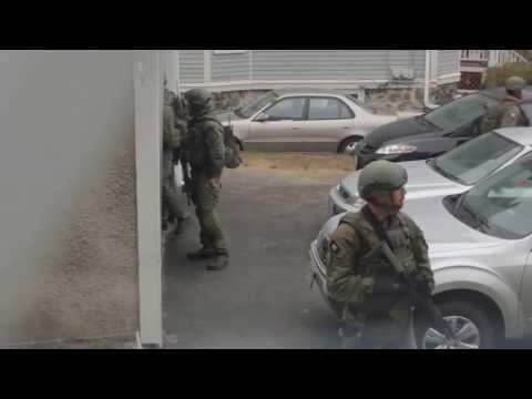SWAT Team Sweeping Neighborhood in Boston