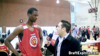 Harrison Barnes Interview & Practice Highlights - 2010 McDonald's All American Game