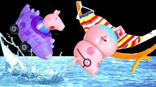 Video Peppa Pig - Peppa's fun day out! Swimming Pool Waterpark Fun 🏊  Peppa Pig Toys Peppa Episodes PP7 MP3, 3GP, MP4, WEBM, AVI, FLV Agustus 2017