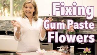 How to Repair Gumpaste Flowers | Cake Tutorial