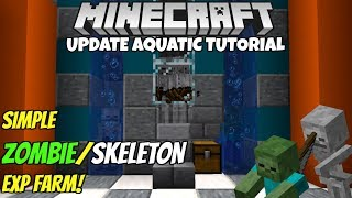Video Minecraft 1.13 Zombie/Skeleton EXP Farm Tutorial! Works on ALL Platforms! MP3, 3GP, MP4, WEBM, AVI, FLV Februari 2019