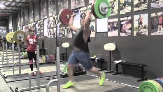 Steve push press + jerk, Alyssa pause front squat, Jes back squat, Steve back squat, Jes lunge. - Weight lifting, Olympic, weightlifting, strength, conditioning, fitness, exercise, crossfit - Catalyst Athletics Videos