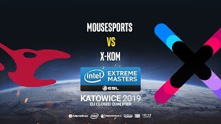 Mousesports vs x-kom - IEM Katowice EU Minor QA - map2 - de_mirage [Anishared]