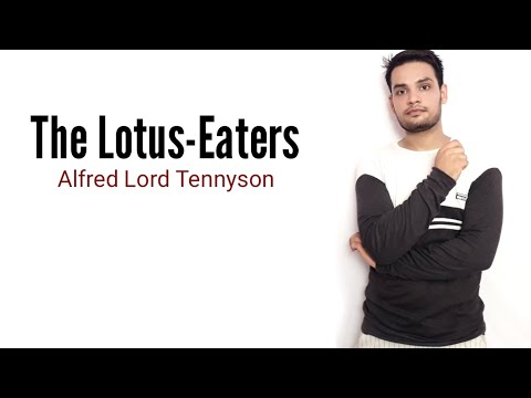 The Lotos-Eaters : Alfred Lord Tennyson in Hindi