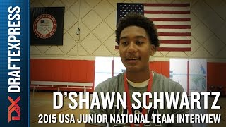 D'Shawn Schwartz 2015 USA Basketball Mini-Camp Interview
