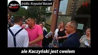 Patryk Jaki przytula wyborcę, który powiedział, że #Kaczyński to C**L.