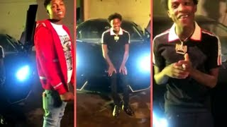 Quando Rondo Pulls Up On NBA YoungBoy In Baton Rouge Stunting With Lamborghini While On Set With YB