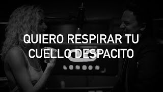 """para que te acuerdes si no estás conmigo :)you can also follow me on https://facebook.com/mrjustlyrics and on https://twitter.com/mrjustlyricsthese are the lyrics for Conor Maynard's and Pixie Lott's sing off, mashup cover of Daddy Yankee's and Luis Fonsi's famous """"Despacito"""". in this, the following songs are featured:Rihanna's """"Umbrella"""";Kevin Lyttle's """"Turn Me On"""";Serani's """"No Games"""";Charlie Puth's """"We Don't Talk Anymore"""";Travie McCoy's and Bruno Mars' """"Billionaire"""";B.o.B's and Hayley Williams' """"Airplanes"""";Cheat Codes' and KKA's """"Sex""""Beyoncé's """"Drunk In Love"""";Stevie Wonder's """"Isn't She Lovely"""";Bill Winthers' """"Lean on Me"""";Blackstreet's """"No Diggity;Miguel's """"Adorn"""";Kings of Leon's """"Sex on Fire"""";Sia's """"Chandelier"""";Sean Paul's """"Like Glue"""";Alicia Keys' """"No One"""";J. Cole's and Miguel's """"Power Trip"""";GOAT's """"Grenade"""";Anton Powers' and Pixie Lott's """"Baby"""";5 Seconds of Summer's """"She Looks So Perfect"""";Enrique Inglesias' """"Súbeme La Radio"""";Britney Spears' """"Oops!… I Did It Again"""";Akon's """"I Wanna Love You""""no copyright infringement in this video; all the rights go to Daddy Yankee, Luis Fonsi, Conor Maynard, Pixie Lott, and Universal Latin, as well as their and every artist featured in this video's other possible labels. this video was made for the unique purposes of entertainment"""
