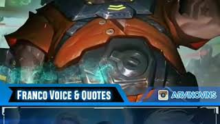 Voice and Quotes Franco Mobile Legends