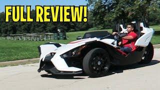 10. 2017 Polaris Slingshot - Three Wheeler Futuristic Car - FULL REVIEW and Road Test