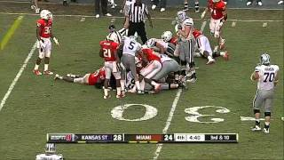 Sean Spence vs KSU and FSU 2011