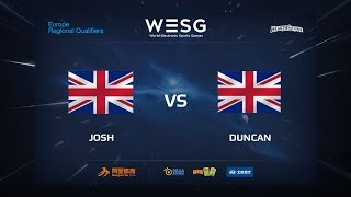 JOSH vs DUNCAN, game 1