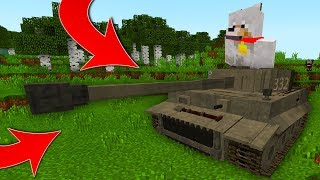 TANK VS THE WITHER STORM MOD - HOW TO DRIVE A TANK BEDROCK EDITION
