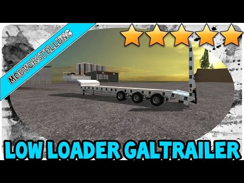 Low Loader Galtrailer SC 1.5 clean