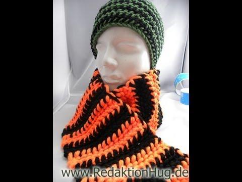 Häkeln – HUG-Schal mit linken festen Maschen aus hatnut Cool