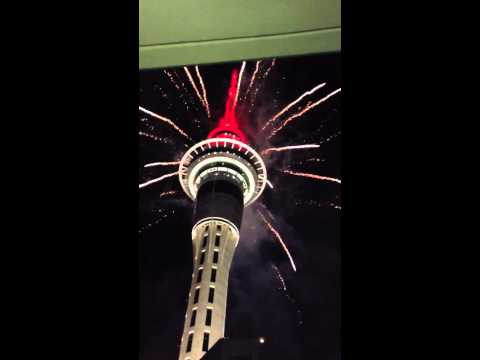 Lunar new year firework in Auckland