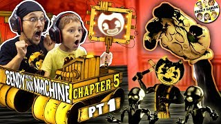 BENDY & the INK MACHINE Chapter 5! The END of FGTEEV + BENDY! (Secrets on the Wall)