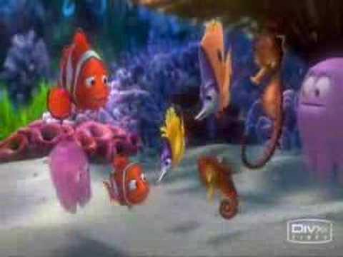 Finding Nemo Funny Finn Comedy Movie Video Cartoon Animation Fish Gang Friends Clip