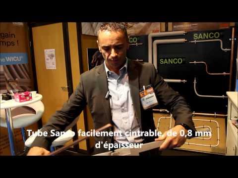 Le nouveau tube Sanco se cintre facilement (Reportage L'Installateur)