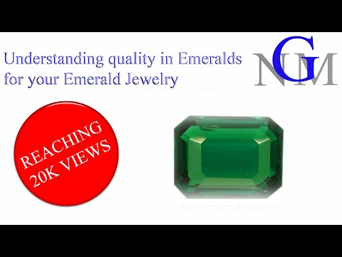 Understanding quality in Emeralds - for your Emerald Jewelry