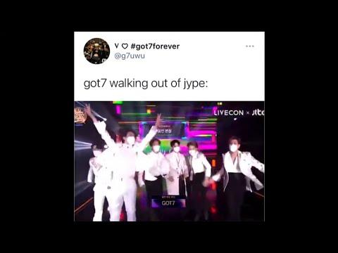 Kpop vines/memes cause Got7 finally escaped JYPE
