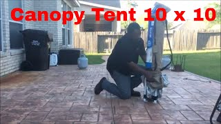 How To Put Up And Take Down A 10 x 10 Canopy Tent By Yourself