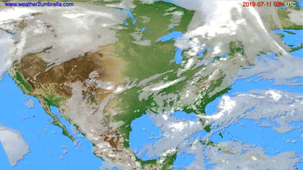 Cloud forecast USA & Canada // modelrun: 00h UTC 2019-07-08