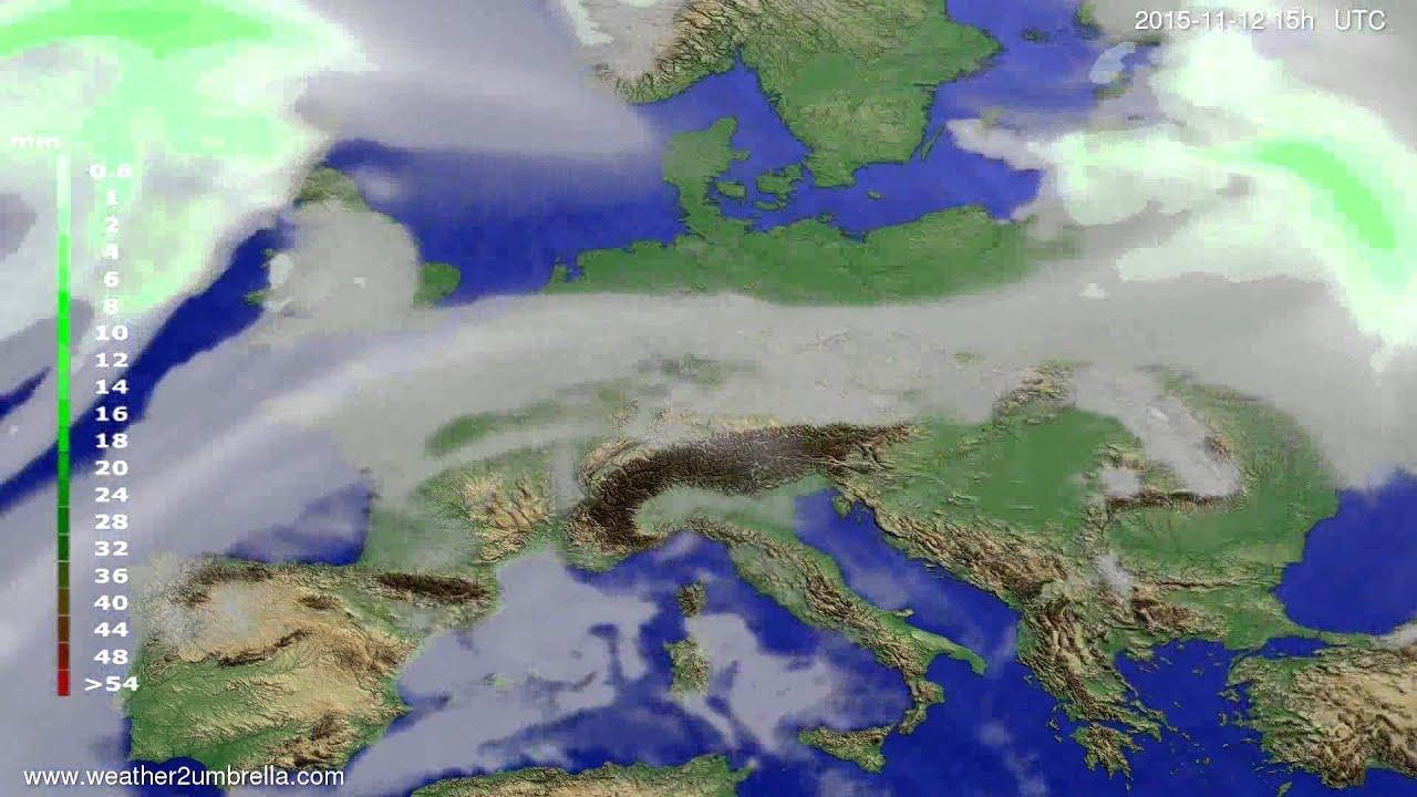 Precipitation forecast Europe 2015-11-10