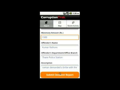 Video of CorruptionTrak India