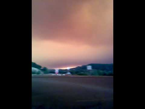 Southern view of smoke from Camp Fire along Camp Creek Rd . in national Forest in Butte County 2018