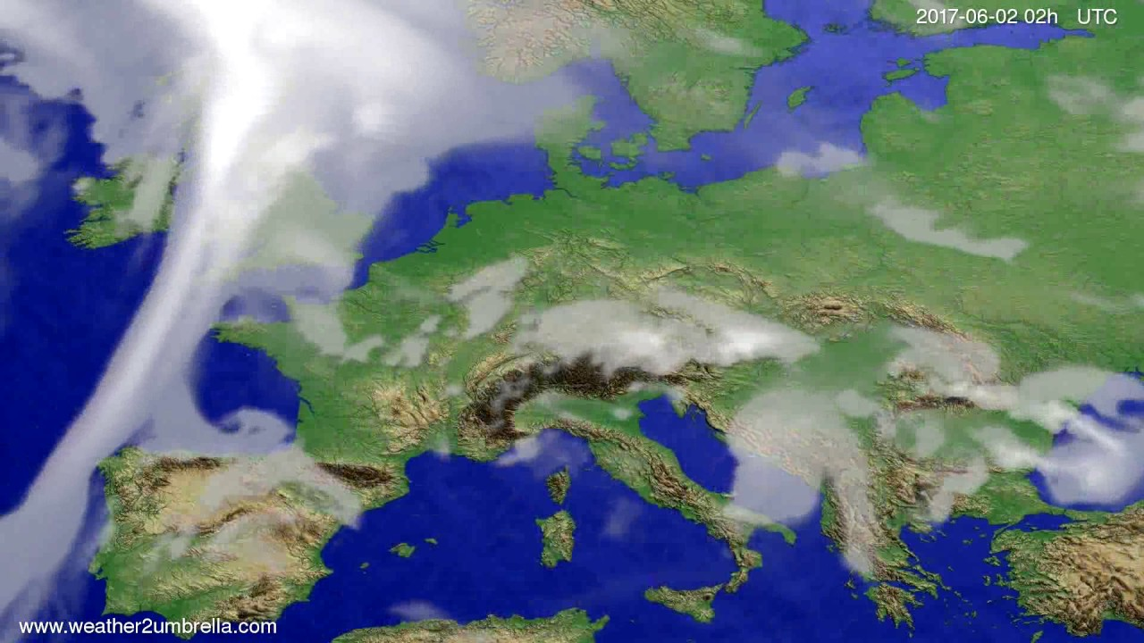 Cloud forecast Europe 2017-05-29