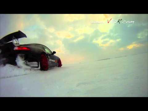 Fast drift & slide on ice Porsche 997 GT3 RS 3.8L ( by VB2R )
