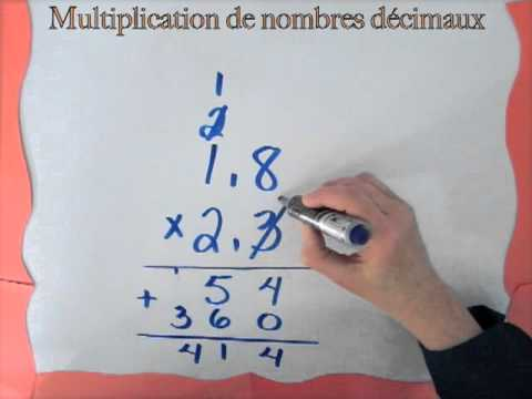 comment poser multiplication virgule
