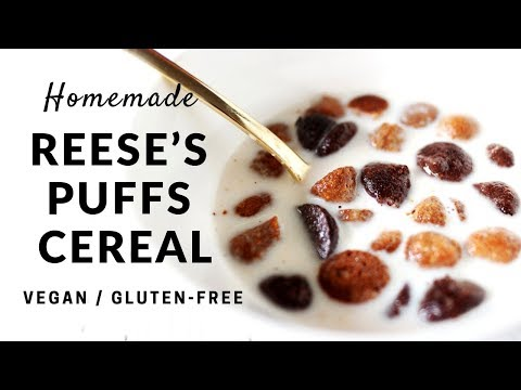 Homemade Reese's Puffs Cereal (Vegan, Gluten-Free, Refined-Sugar-Free)