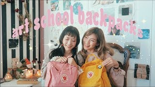 Video INSIDE OUR SCHOOL BACKPACKS // art school supplies, advice, etc MP3, 3GP, MP4, WEBM, AVI, FLV Maret 2019