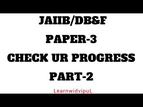 INDEMNITY || JAIIB || PAPER-3 || CHECK UR PROGRESS-2