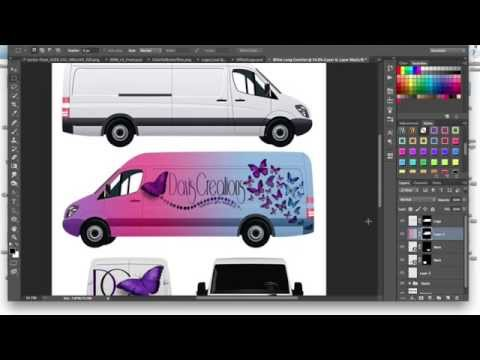 How to Make A Commercial Cargo Van (Car Wrap) Mockup (Tutorial) Using Adobe Photoshop