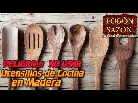 No Usar Utensilios de Cocina en Madera!!! Peligro!!!