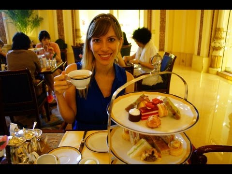 Tea at the Peninsula Hotel in Hong Kong