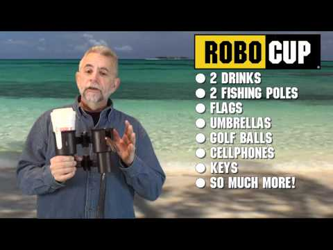 ROBOCUP PORTABLE CADDY CLAMP ON BOAT CUP HOLDER FOR DRINKS, FISHING RODS, BOATING, RV, UTV, GOLF