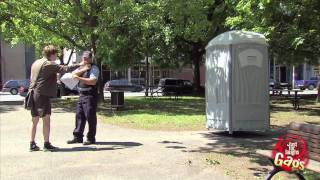 Wanted Man In Toilet Gag