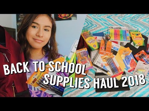 BACK TO SCHOOL SUPPLIES HAUL 2018 (junior Year)