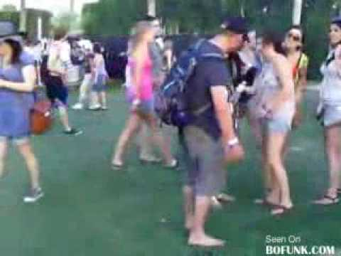 drunk guy can't wear his shoes