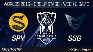 SPY vs SSG - World Championship 2016 - Group Stage Week 2 Day 3
